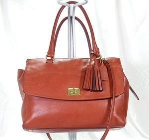 ❤Coach British Tan Large Shoulder Bag